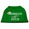 Mirage Pet Products Aberdoggie Christmas Screen Print Shirt Emerald Green XS (8)