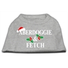 Mirage Pet Products Aberdoggie Christmas Screen Print Shirt Grey XXXL(20)