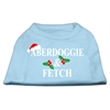 Mirage Pet Products Aberdoggie Christmas Screen Print Shirt Baby Blue XS (8)