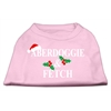 Mirage Pet Products Aberdoggie Christmas Screen Print Shirt Light Pink XS (8)