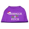 Mirage Pet Products Aberdoggie Christmas Screen Print Shirt Purple XS (8)