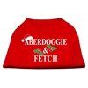 Mirage Pet Products Aberdoggie Christmas Screen Print Shirt Red XXXL(20)
