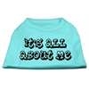 Mirage Pet Products It's All About Me Screen Print Shirts Aqua XXL (18)