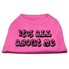 Mirage Pet Products It's All About Me Screen Print Shirts Bright Pink Med (12)