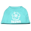 Mirage Pet Products Aloha Flower Screen Print Shirt Aqua XXXL (20)