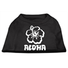 Mirage Pet Products Aloha Flower Screen Print Shirt Black  XXL (18)