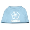Mirage Pet Products Aloha Flower Screen Print Shirt Baby Blue XXL (18)