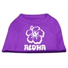 Mirage Pet Products Aloha Flower Screen Print Shirt Purple Med (12)