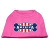 Mirage Pet Products Bonely in America Screen Print Shirt Bright Pink Med (12)