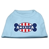 Mirage Pet Products Bonely in America Screen Print Shirt Baby Blue XXL (18)