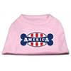 Mirage Pet Products Bonely in America Screen Print Shirt Light Pink XXL (18)