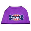 Mirage Pet Products Bonely in America Screen Print Shirt Purple Sm (10)