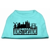 Mirage Pet Products Amsterdam Skyline Screen Print Shirt Aqua Lg (14)