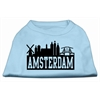 Mirage Pet Products Amsterdam Skyline Screen Print Shirt Baby Blue Lg (14)