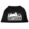 Mirage Pet Products Amsterdam Skyline Screen Print Shirt Black XXL (18)