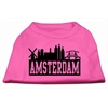 Mirage Pet Products Amsterdam Skyline Screen Print Shirt Bright Pink Med (12)