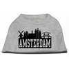 Mirage Pet Products Amsterdam Skyline Screen Print Shirt Grey XL (16)