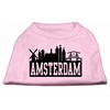 Mirage Pet Products Amsterdam Skyline Screen Print Shirt Light Pink XXXL (20)
