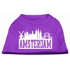 Mirage Pet Products Amsterdam Skyline Screen Print Shirt Purple XS (8)