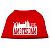 Mirage Pet Products Amsterdam Skyline Screen Print Shirt Red XS (8)