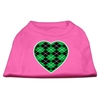 Mirage Pet Products Argyle Heart Green Screen Print Shirt Bright Pink Lg (14)