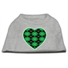 Mirage Pet Products Argyle Heart Green Screen Print Shirt Grey XL (16)