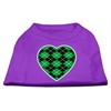 Mirage Pet Products Argyle Heart Green Screen Print Shirt Purple Lg (14)