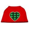 Mirage Pet Products Argyle Heart Green Screen Print Shirt Red XS (8)