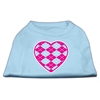 Mirage Pet Products Argyle Heart Pink Screen Print Shirt Baby Blue Med (12)