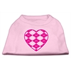 Mirage Pet Products Argyle Heart Pink Screen Print Shirt Light Pink XL (16)