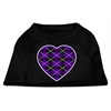 Mirage Pet Products Argyle Heart Purple Screen Print Shirt Black Sm (10)