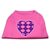 Mirage Pet Products Argyle Heart Purple Screen Print Shirt Bright Pink Med (12)