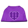 Mirage Pet Products Argyle Heart Purple Screen Print Shirt Purple XXL (18)