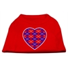 Mirage Pet Products Argyle Heart Purple Screen Print Shirt Red Med (12)