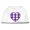 Mirage Pet Products Argyle Heart Purple Screen Print Shirt White XXL (18)