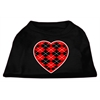 Mirage Pet Products Argyle Heart Red Screen Print Shirt Black XXL (18)