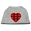 Mirage Pet Products Argyle Heart Red Screen Print Shirt Grey XS (8)
