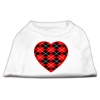 Mirage Pet Products Argyle Heart Red Screen Print Shirt White XXXL(20)