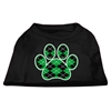 Mirage Pet Products Argyle Paw Green Screen Print Shirt Black XS (8)