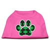 Mirage Pet Products Argyle Paw Green Screen Print Shirt Bright Pink Sm (10)