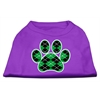 Mirage Pet Products Argyle Paw Green Screen Print Shirt Purple XXL (18)