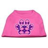 Mirage Pet Products Argyle Paw Purple Screen Print Shirt Bright Pink Med (12)