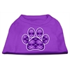Mirage Pet Products Argyle Paw Purple Screen Print Shirt Purple XS (8)