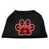 Mirage Pet Products Argyle Paw Red Screen Print Shirt Black XS (8)