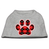 Mirage Pet Products Argyle Paw Red Screen Print Shirt Grey Med (12)