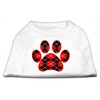 Mirage Pet Products Argyle Paw Red Screen Print Shirt White S (10)