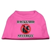 Mirage Pet Products Backyard Security Screen Print Shirts Bright Pink XXL (18)