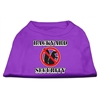 Mirage Pet Products Backyard Security Screen Print Shirts Purple S (10)