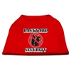Mirage Pet Products Backyard Security Screen Print Shirts Red XS (8)
