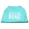 Mirage Pet Products Bad to the Bone Dog Shirt Aqua Lg (14)